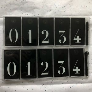 NWT IKEA Historisk Black & White Number Tag Bundle